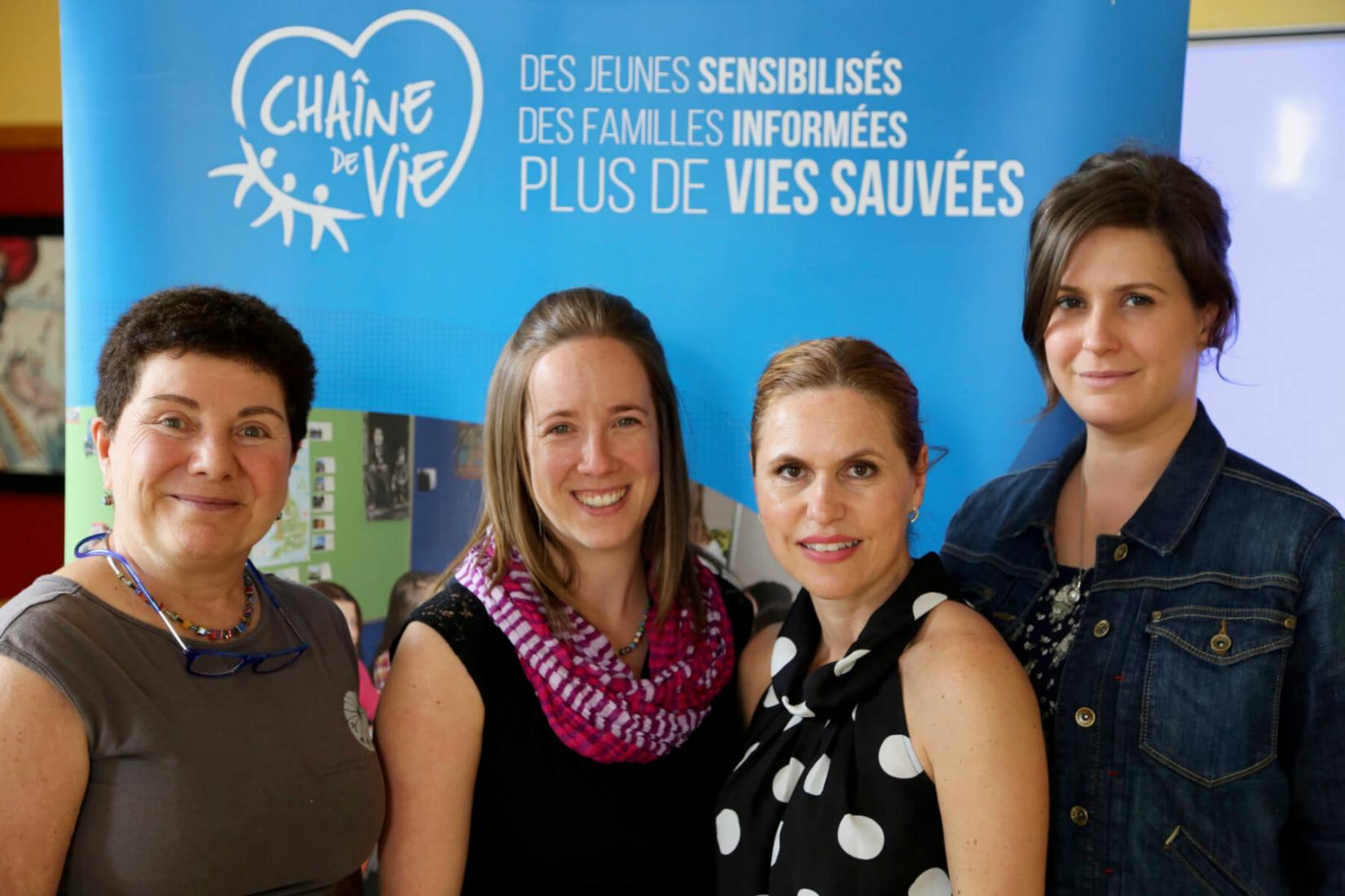 Lucie Dumont, Sara Lemieux-Doutreloux, Doris Rainha et Janie Boulianne Gref