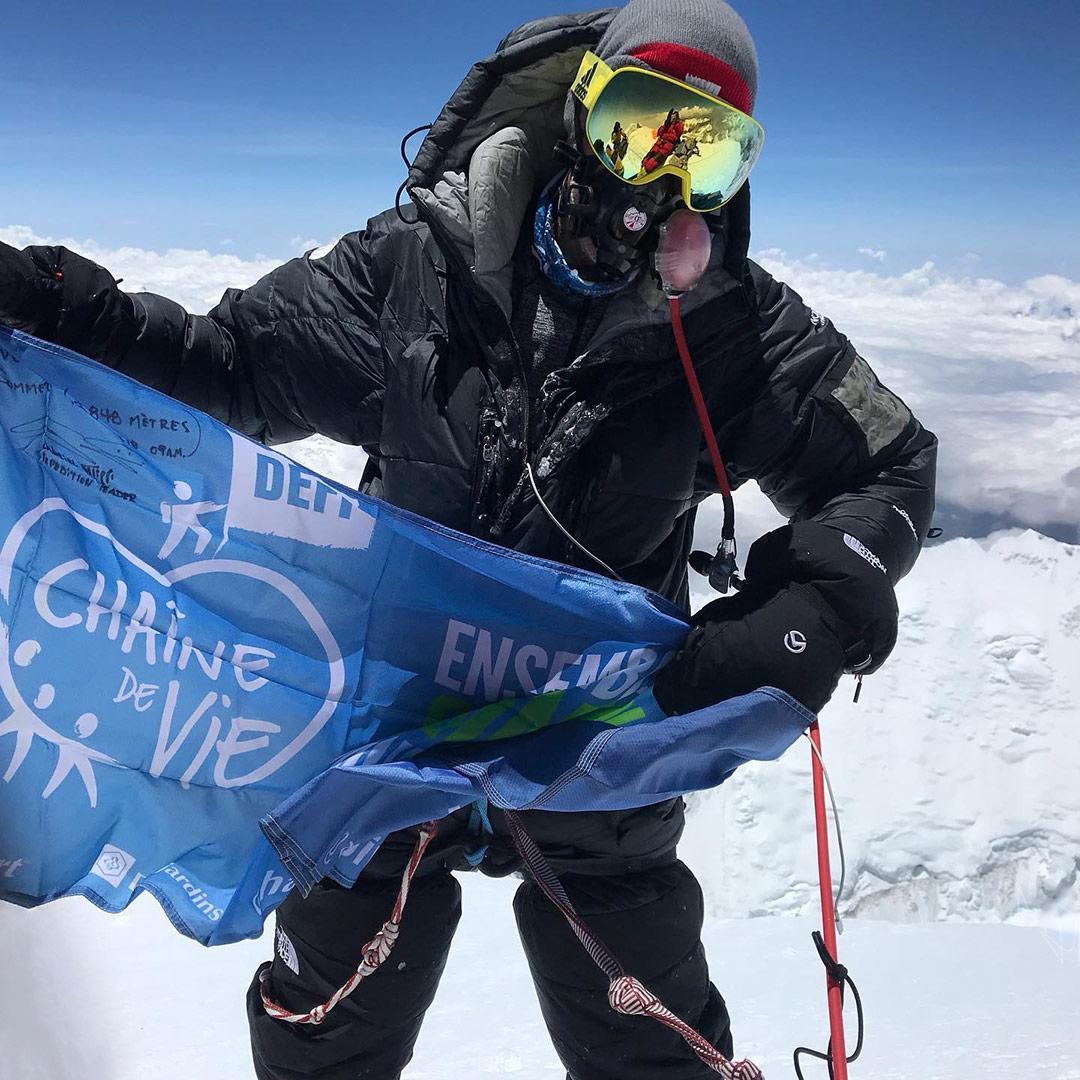 Gabriel Filippi, Sommet de l'Everest, mai 2019
