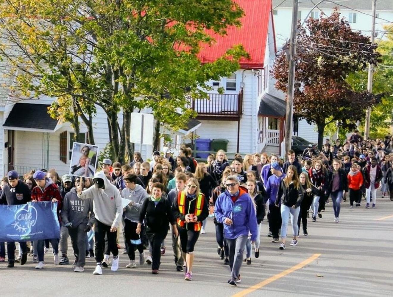 Organize a walk at school